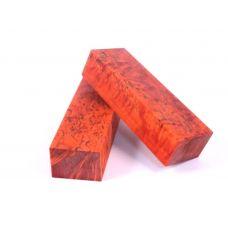 Карельская береза, стабилка красная, уцененная отбраковка, заготовка для рукояти ножа