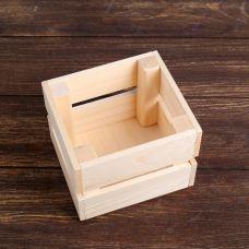 Кашпо деревянное 12×11×9 см, сосна