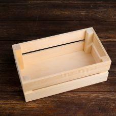 Кашпо деревянное 24.5×13.5×9см, сосна