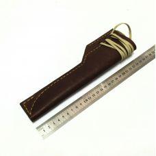 Ножны кожаные, большие.  Тип-2 (цвет: табачный)