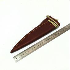 Ножны кожаные, большие. Тип-1 (цвет: рыже-коричневый)