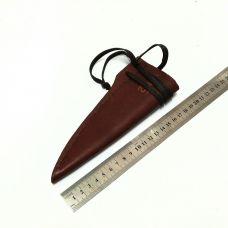 Ножны кожаные, маленькие.  Тип-1 (цвет: рыже-коричневый)