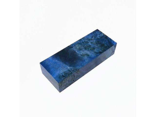 Кап березы стабилизированный синий, заготовка для рукояти ножа