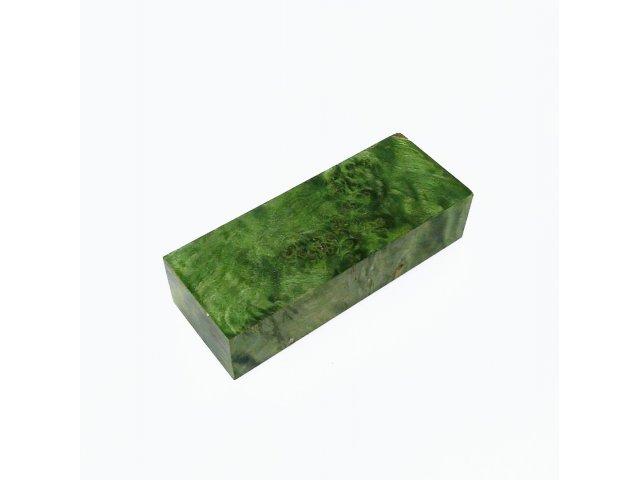Кап березы стабилизированный зеленый, заготовка для рукояти ножа