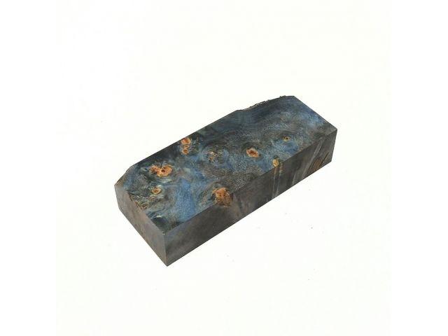 Кап березы стабилизированный черно-синий, заготовка для рукояти ножа