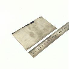 Титановая пластина ОТ-1 130х85х1,2мм
