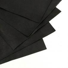 Кожа натуральная КРС, обувная, цвет черный, 1,0-1,2мм