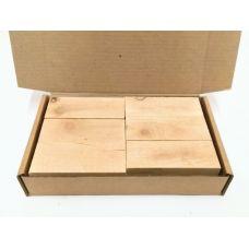 Кедр, коробка уцененных брусков 270х165х50мм