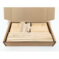 Белый граб, коробка уцененных брусков 270х165х50мм
