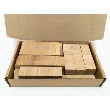 Дуб, коробка уцененных брусков 270х165х50мм