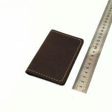 Кардхолдер книжка, кожа ХД, цвет темно-коричневый