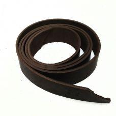 Ременная заготовка, кожа ХД, цвет коричневый, толщ. 3-4мм