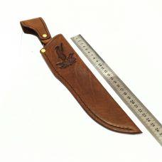 Ножны с тиснением, кожа РД, цвет светло-коричневый