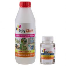 Прозрачная Эпоксидная смола Poly Glass 580 г. для бижутерии PG0.58