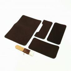 Комплект для изготовления паспортной обложки, цвет темно-коричневый