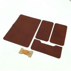Комплект для изготовления паспортной обложки, цвет рыже-коричневый