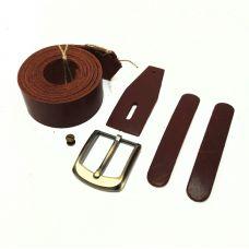 Комплект для изготовления ремня, цвет коньяк