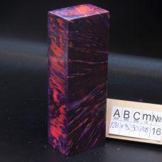 Карельская береза стабилизированная, цвет розово-фиолетовый