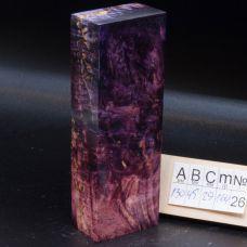 Карельская береза стабилизированная, цвет светло-фиолетовый