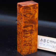 Карельская береза стабилизированная, цвет оранжевый