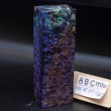 Карельская береза стабилизированная, цвет фиолетово-бирюзовый
