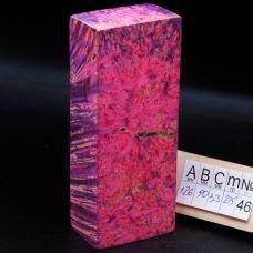 Клен стабилизированный, цвет лилово-розовый