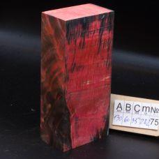 Клен стабилизированный, цвет черно-розовый
