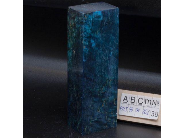 Карельская береза стабилизированная, цвет темно-синий