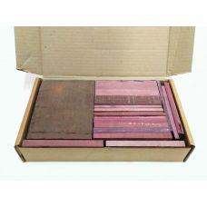 Амарант, коробка уцененных брусков 270х165х50мм