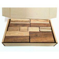 Зебрано, коробка уцененных брусков 270х165х50мм
