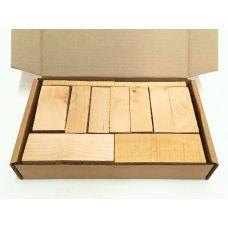 Береза, коробка уцененных брусков 270х165х50мм