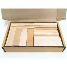 Клен, коробка уцененных брусков 270х165х50мм