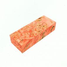 Кап клена стабилизированный персиковый, заготовка для рукояти ножа