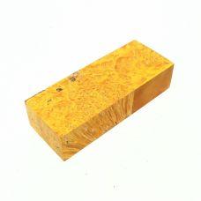 Кап клена стабилизированный желтый, заготовка для рукояти ножа