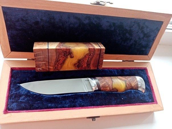Пример рукояти ножа из гибридного бруска
