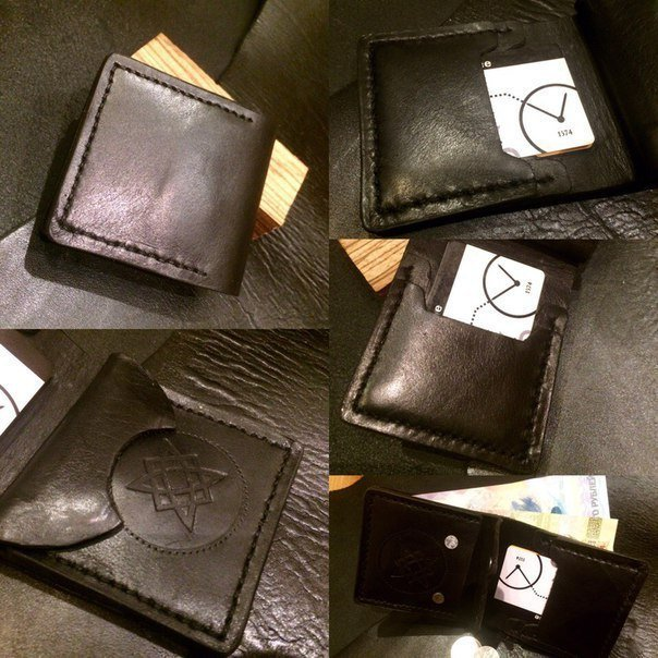 Пример бумажника из натуральной кожи
