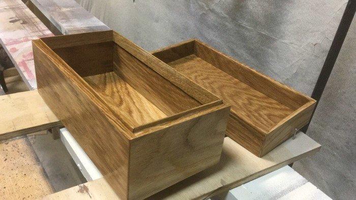 Пример деревянной шкатулки из ламелей
