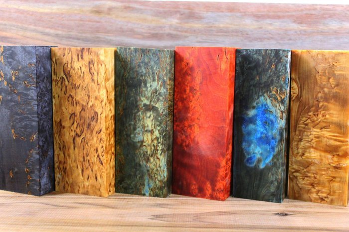 Примеры стабилизированных деревянных брусков