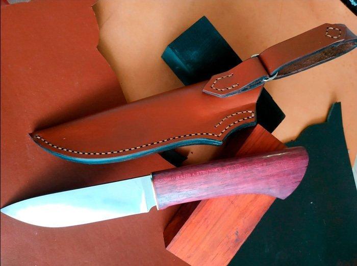 Пример рукояти ножа из амаранта