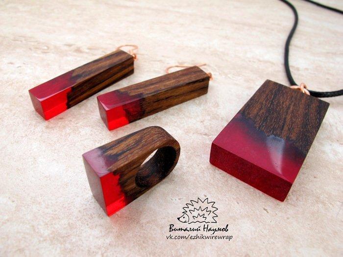 Пример украшений из древесины амазаку