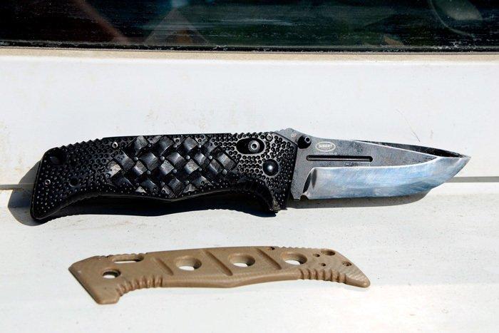 Пример рукояти ножа из черного граба