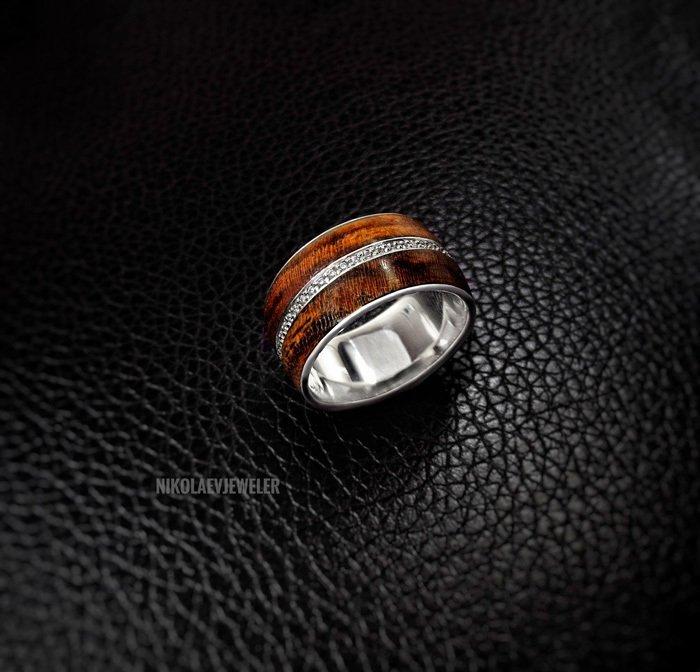 Пример кольца из кокоболо