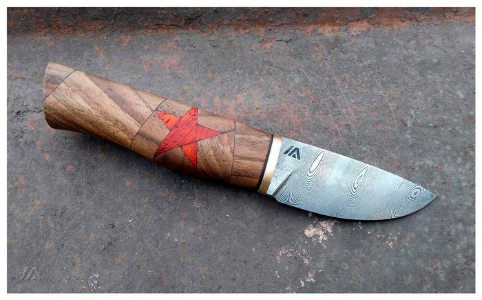 Пример составной рукояти ножа из грецкого ореха