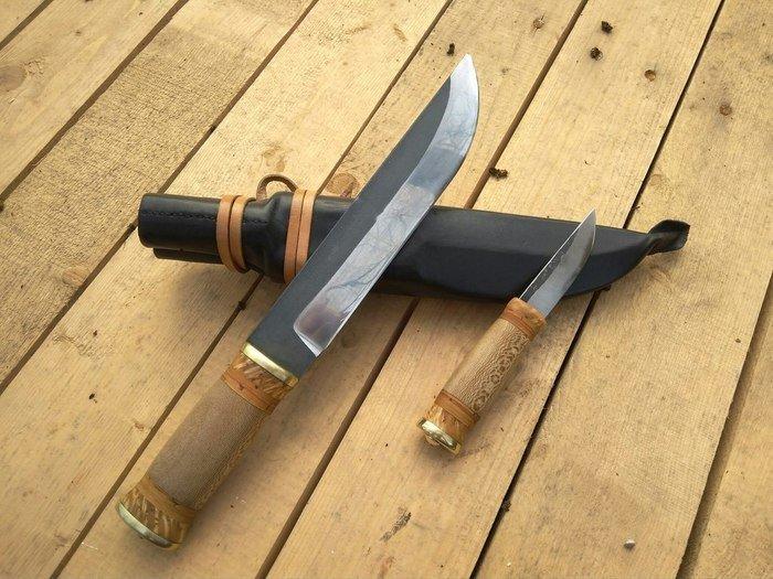Пример рукояти ножа из древесины платана