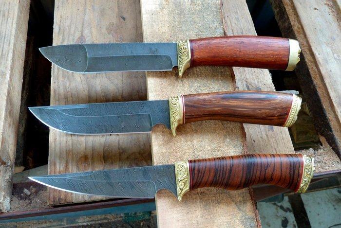 Примеры рукоятей из деревянных заготовок
