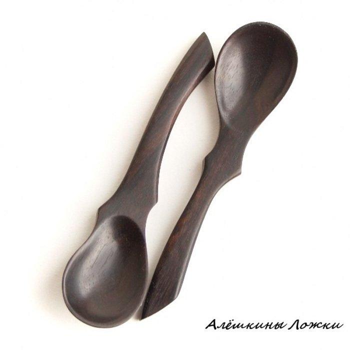 Пример ложки из древесины зирикот