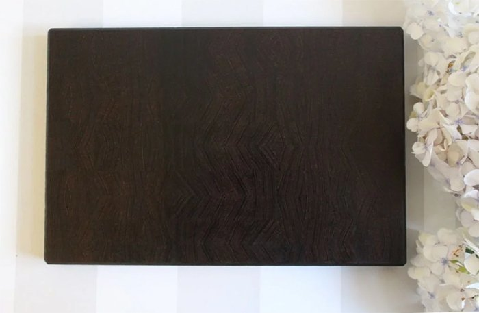 торцевая разделочная доска из древесины венге