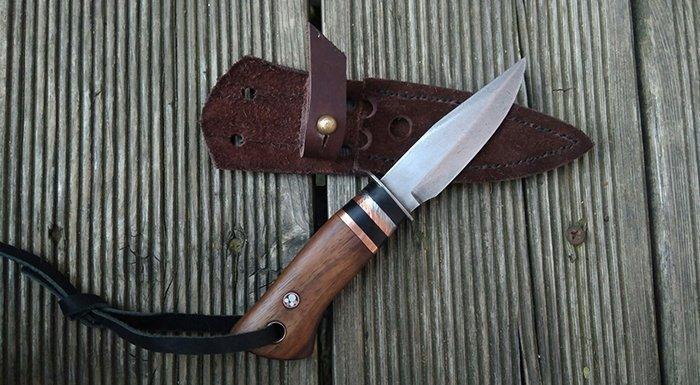 нож с проставками из меди