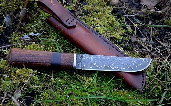 нож с больстером из титана