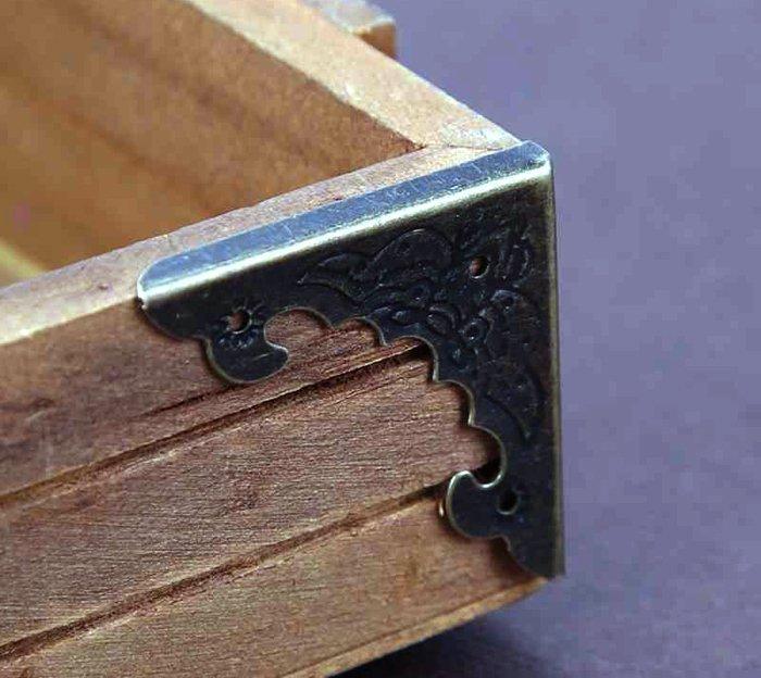 металлические уголки для шкатулки